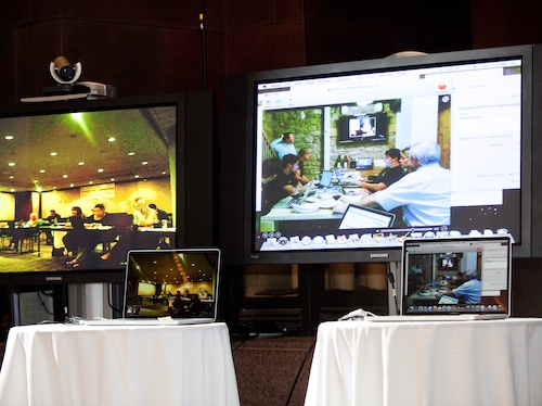 virtual hybrid meeting Event Camp 2010